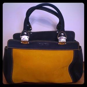 Miu Miu (Prada) Navy & Mustard yellow handbag